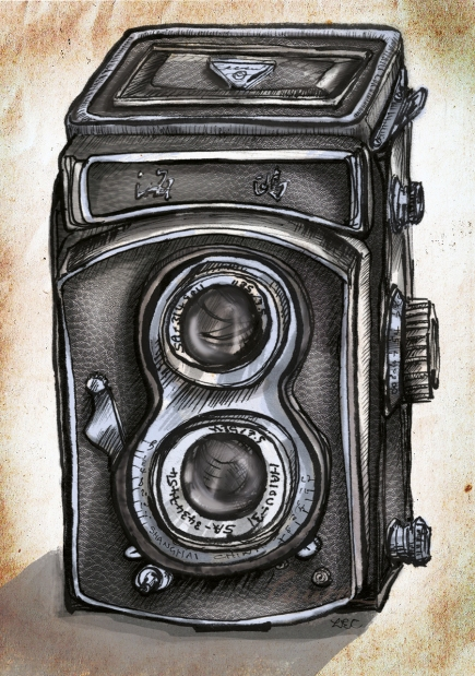 Chinese camera illustration, Illustratorlaura on Etsy