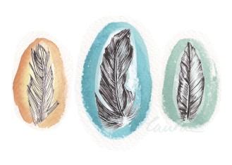 Feather illustration, Illustratorlaura on Etsy