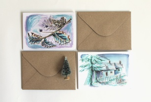 Holiday cards, Ilustratorlaura on Etsy