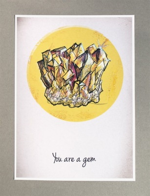 ''You are a Gem'' print, Ilustratorlaura on Etsy