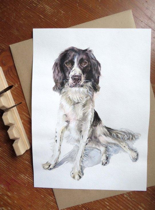 Custom dog portrait by illustratorlaura