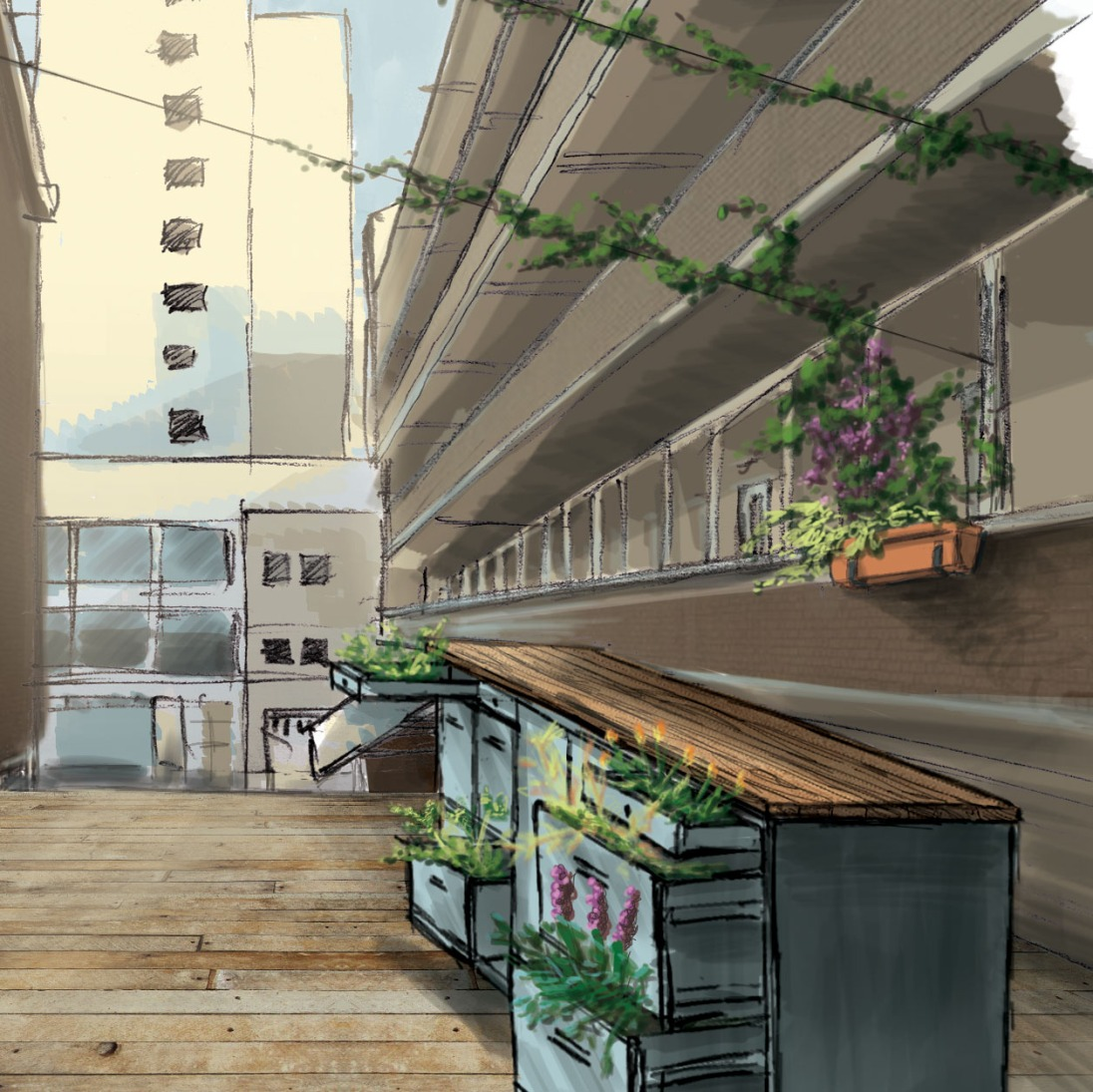 Rooftop garden concept The Hub Ehv