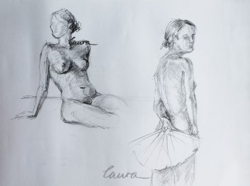 Figure drawing Laura Carter