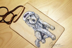Puppy plaque, illustratorlaura